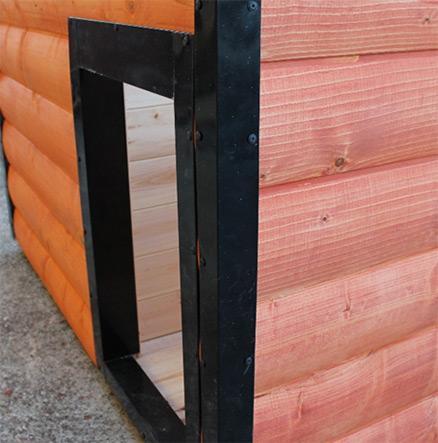 Ochrana proti ohrýzaniu na vchod búdy